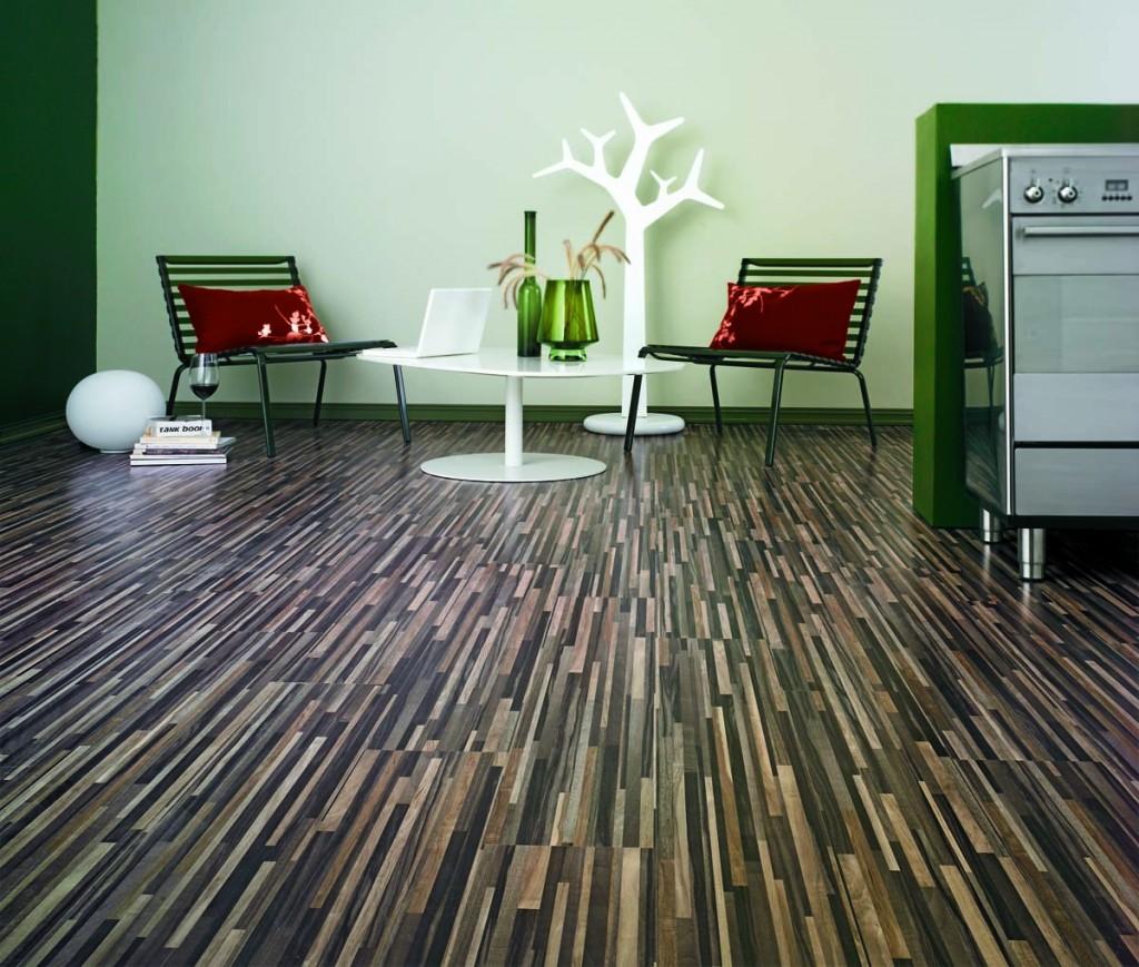 Tile over vinyl floor